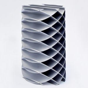 elliptischer zylinder aus zwei scharen paralleler kreisschnitte