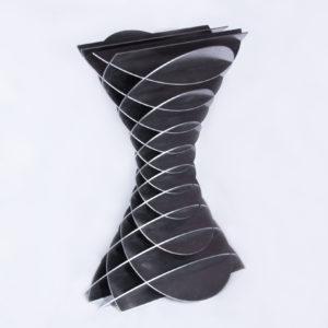 elliptisches einschaliges hyperboloid aus zwei scharen paralleler kreisschnitte